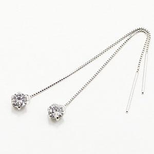 0.3ctダイヤモンドチェーンピアス
