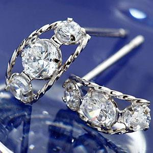 6石合計0.3ctダイヤモンドローブピアス