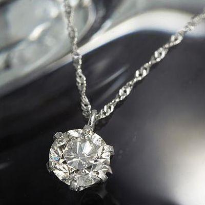 40代にオススメの0.5ct普段使い用一粒ダイヤモンドネックレス